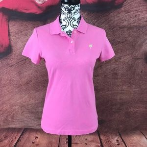 Lilly Pulitzer Pink Polo Shirt Small